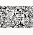 Pattern cheetahs background vector image
