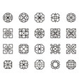abstract geometric shape 15 vector image