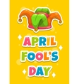 April Fool s day greeting card template vector image
