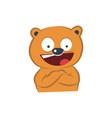 cute bear happy vector image