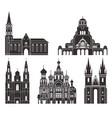 eastern europe isolated european buildings vector image
