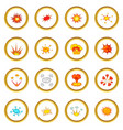 explosion icons circle vector image