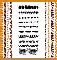 hand-drawn simple brushes collection dividers vector image