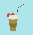 icon in flat design for restaurant milkshake with vector image