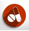 medical drugs web icon vector image