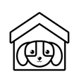 Puppy domestic mammal house pet outline vector image