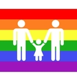 Gay family icon rainbow background vector image