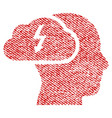 brainstorming fabric textured icon vector image