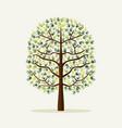 green hand print tree environment vector image