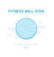 fitness ball icon isolated on white vector image vector image