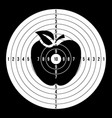 sport target blank classic paper shooting vector image