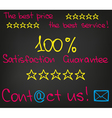 The best price the best service2 vector image