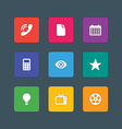 Material design style icons sign and symbols vector image