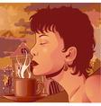 coffee aroma vector image vector image