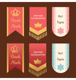 cute and elegant bookmark or promotion flag or vector image vector image