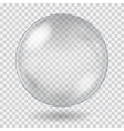 Big white transparent glass sphere vector image