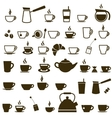 Set of Coffee cup and Tea cup icons vector image vector image