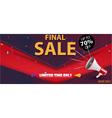 Flash Sale Banner and Best Offer design vector image