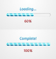 Blue loading bars vector image