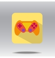 flat icons of gamepad vector image