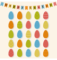 Happy Easter Easter eggs Set of Easter elements vector image