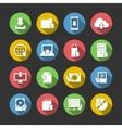 Internet Download Symbols Icons Set vector image