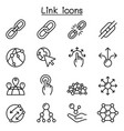 link icon set in thin line style vector image