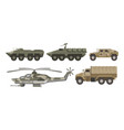 military transport and army aviation machines vector image