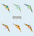 paraplane in different color vector image