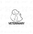 veterinary logo design on pets vector image