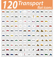 set transport flat icons 01 vector image