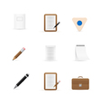Icons for office and stationery vector image vector image