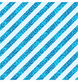 Seamless white-blue diagonal pattern vector image vector image