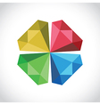 diamond symbol vector image vector image