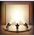 Stage With Spotlights vector image
