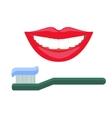 White teeth smile vector image