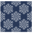 seamless snowflakes pattern vector image vector image
