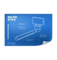 isometric line selfie stick vector image