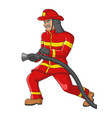 a senior firefighter vector image