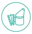 Bee hive smoker line icon vector image