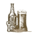 Beer Hand Draw Sketch vector image