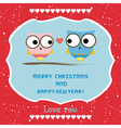 Christmas greeting card58 vector image