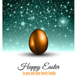 Happy Easter Background with a Colorful Egg with vector image