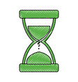 hourglass time instrument vector image