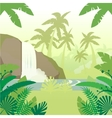Jungle Flat Background4 vector image