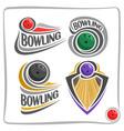 logo bowling ball vector image
