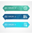 paper triangle option banner vector image