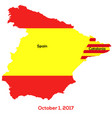 referendum spain - catalonia vector image