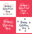 set of four valentines day designs vector image