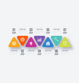 triangles for infographic vector image